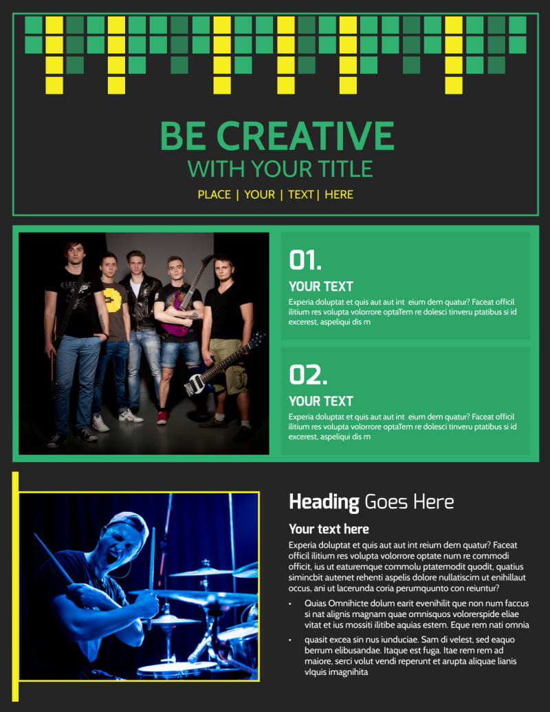 Popular Music Band Flyer Template Preview 2