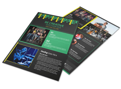 Popular Music Band Flyer Template