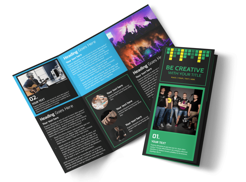 Popular Music Band Brochure Template Preview 1