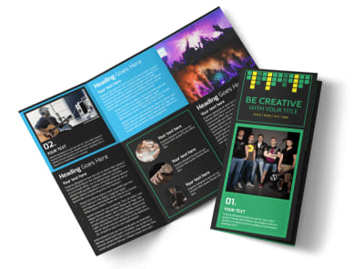 Popular Music Band Tri-Fold Brochure Template preview