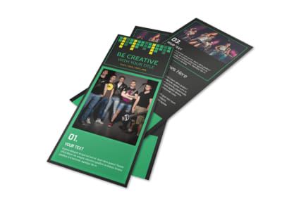 Popular Music Band Flyer Template 2