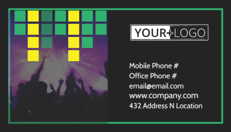 Popular Music Band Business Card Template Preview 2
