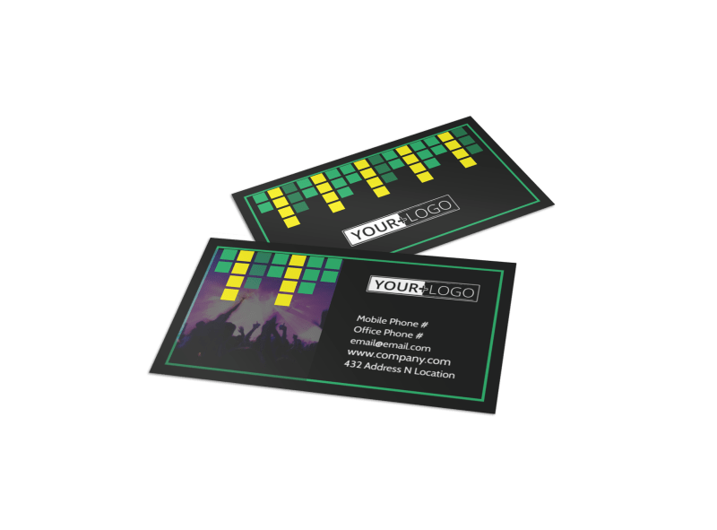 Popular Music Band Business Card Template Preview 1