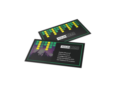 Popular Music Band Business Card Template preview