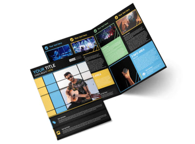 All Day Music Event Bi-Fold Brochure Template 2