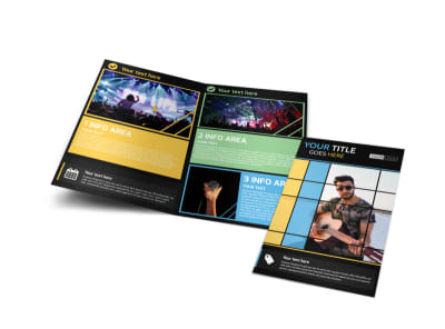 All Day Music Event Bi-Fold Brochure Template
