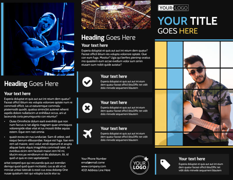 All Day Music Event Brochure Template Preview 2