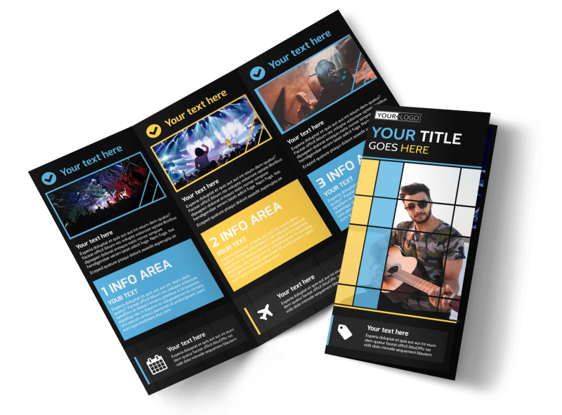 All Day Music Event Brochure Template Preview 1