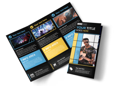 All Day Music Event Tri-Fold Brochure Template