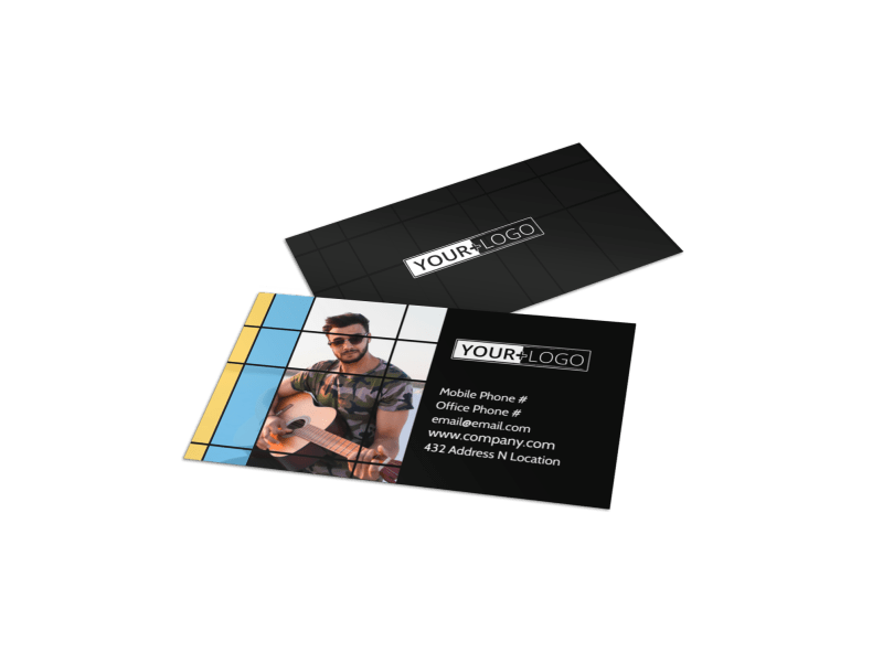 All Day Music Event Business Card Template Preview 1