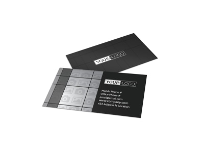 Generic Business Card Template 11299