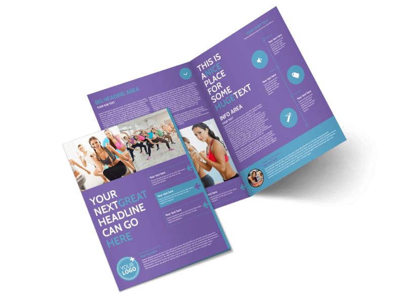 Aerobics Class Bi-Fold Brochure Template 2