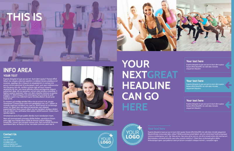 Aerobics Class Brochure Template Preview 2