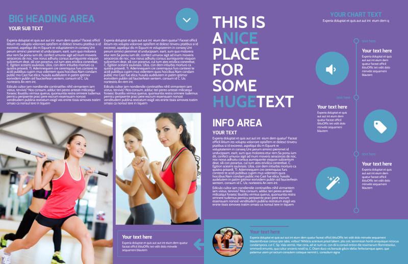 Aerobics Class Brochure Template Preview 3