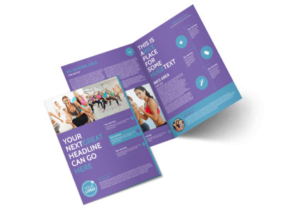 Aerobics Class Bi-Fold Brochure Template 2 preview