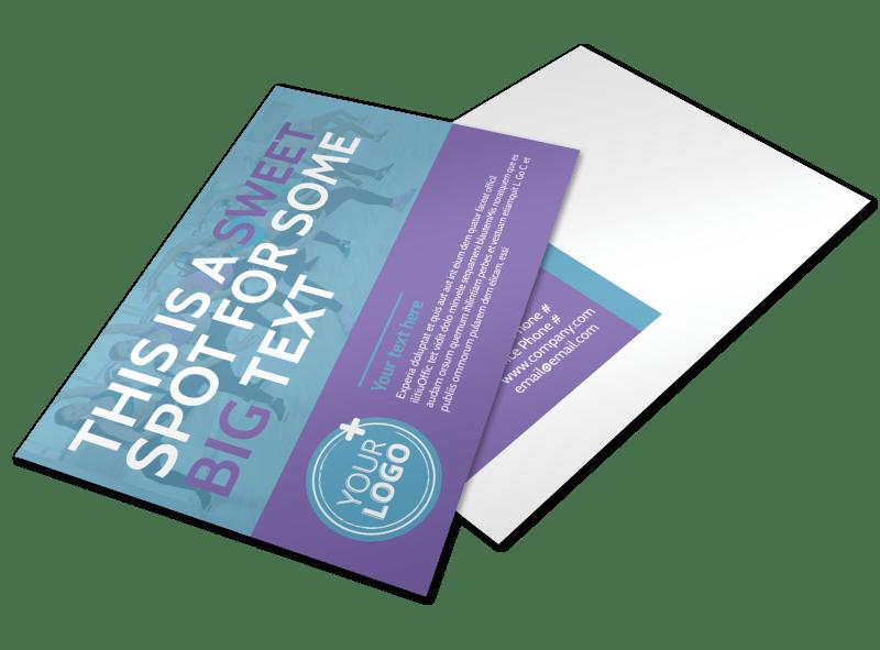 Aerobics Class Postcard Template Preview 1