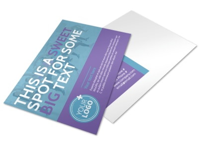 Aerobics Class Postcard Template 2 preview
