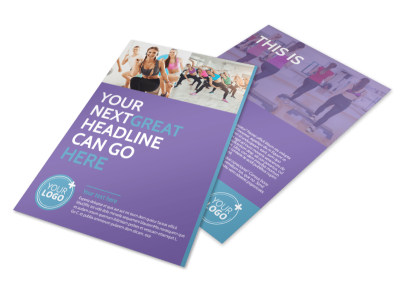 Aerobics Class Flyer Template 3 preview