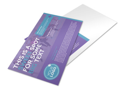 Aerobics Class Postcard Template preview