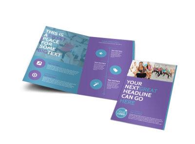 Aerobics Class Bi-Fold Brochure Template