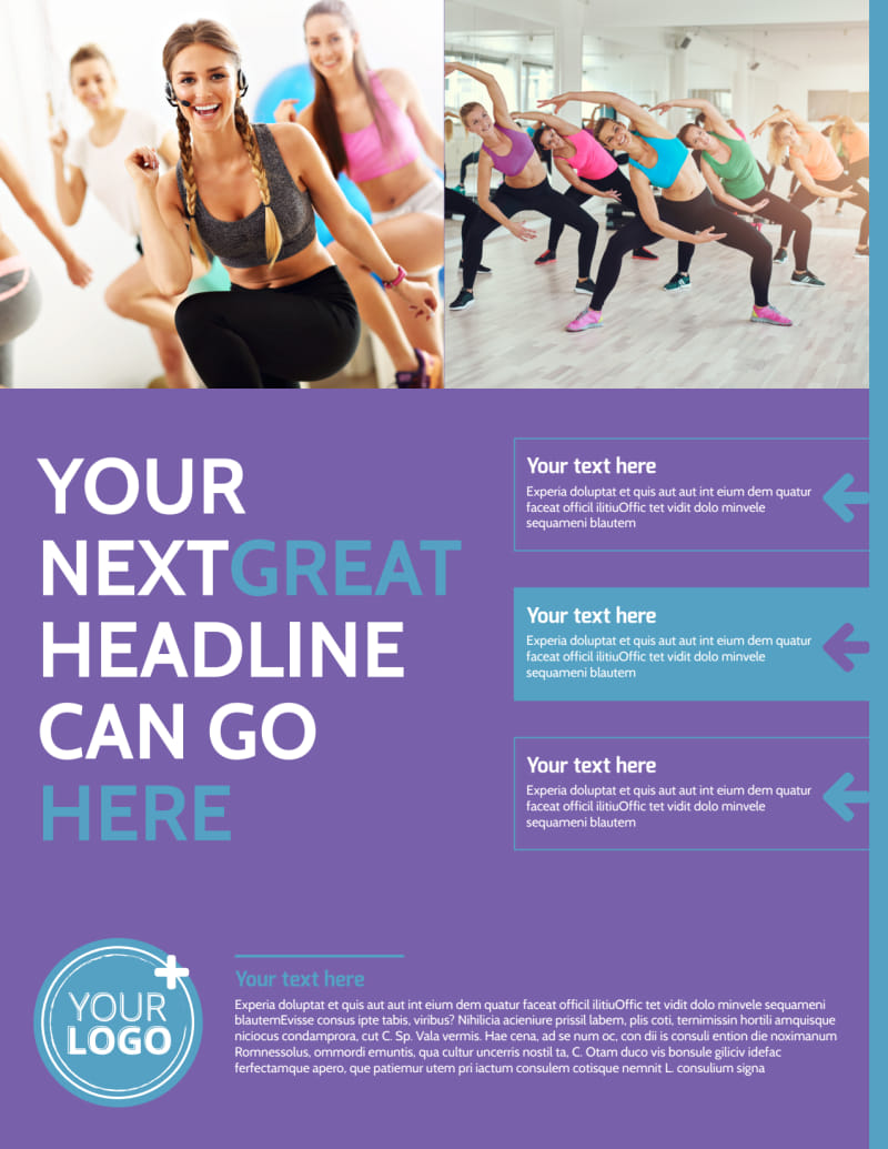 Aerobics Class Flyer Template Preview 2