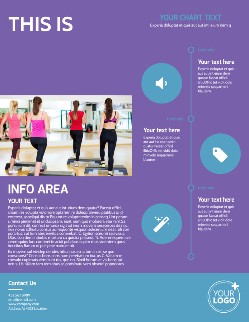 Aerobics Class Flyer Template Preview 3