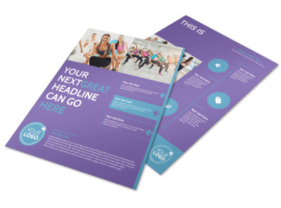Design custom business flyers online mycreativeshop aerobics class flyer template cheaphphosting Image collections