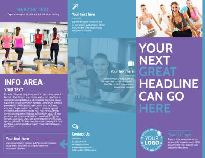 Aerobics Class Brochure Template Preview 1
