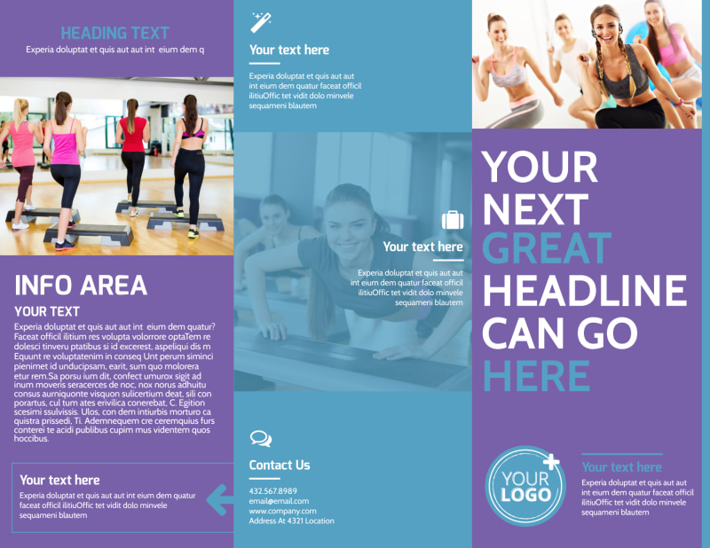 Aerobics Class Brochure Template Preview 2