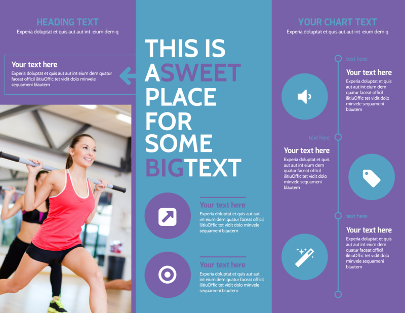 Aerobics Class Brochure Template Preview 3