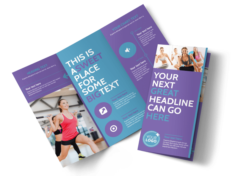 Aerobics Class Brochure Template Preview 1