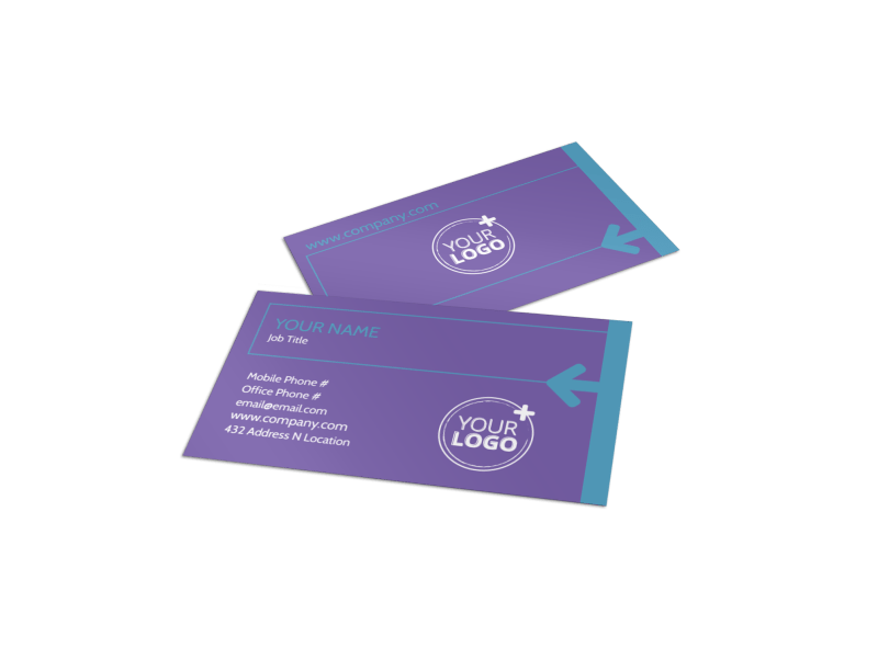 Aerobics Class Business Card Template Preview 1