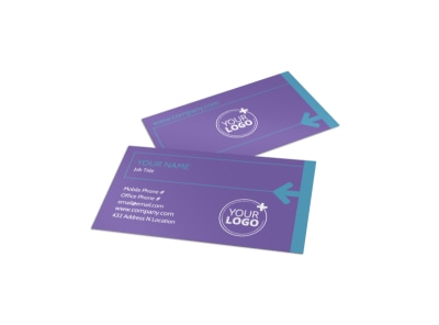 Aerobics Class Business Card Template preview