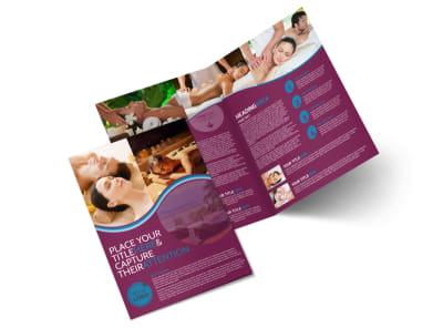 Spa Resort Getaway Bi-Fold Brochure Template 2 preview