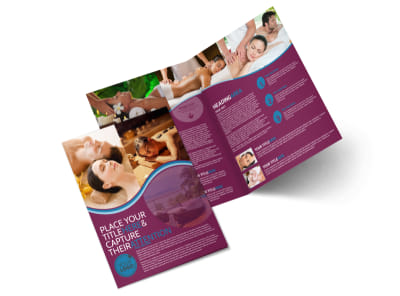 Spa Resort Getaway Bi-Fold Brochure Template 2 preview