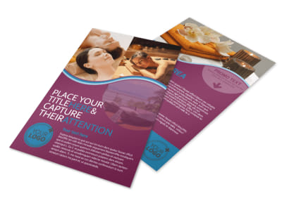 Spa Resort Getaway Flyer Template 3