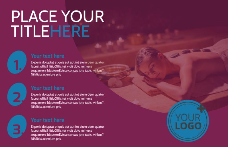 Spa Resort Getaway Postcard Template Preview 2