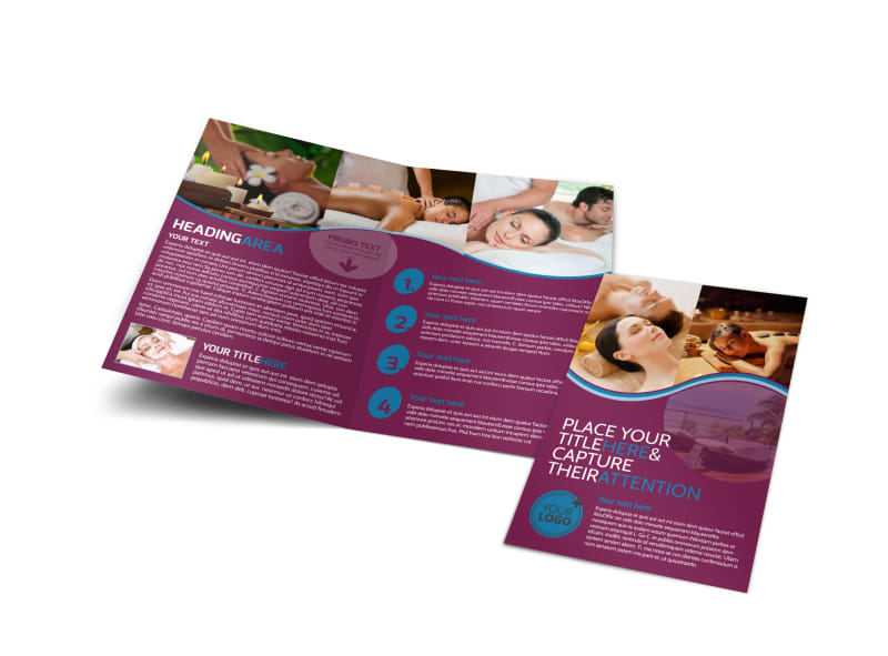 Spa Resort Getaway Bi-Fold Brochure Template