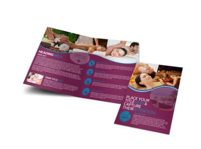 Spa Resort Getaway Bi-Fold Brochure Template preview