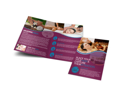 Spa Resort Getaway Bi-Fold Brochure Template preview