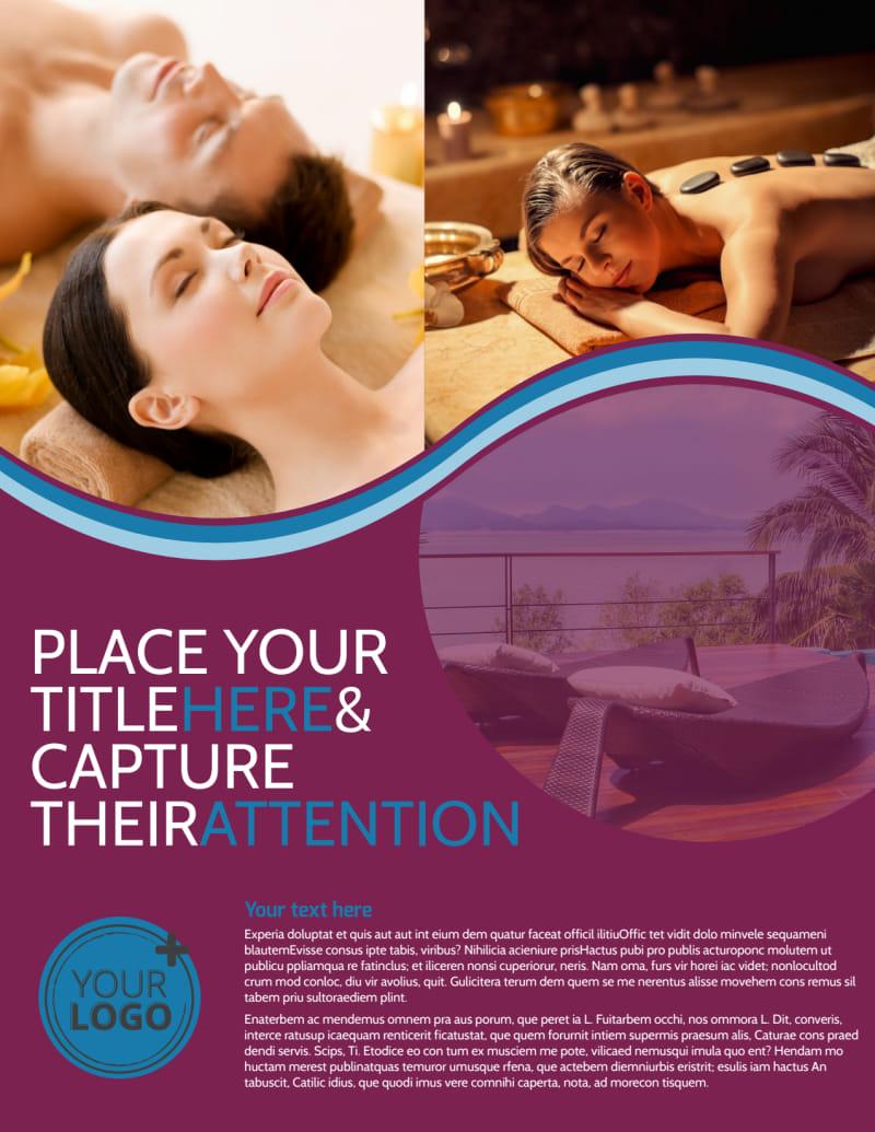 Spa Resort Getaway Flyer Template Preview 2