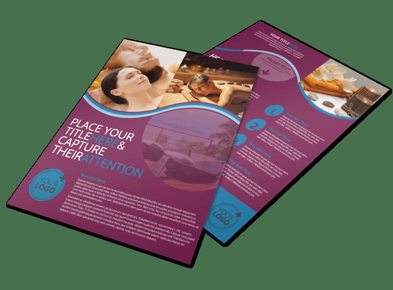 Spa Resort Getaway Flyer Template Preview 1