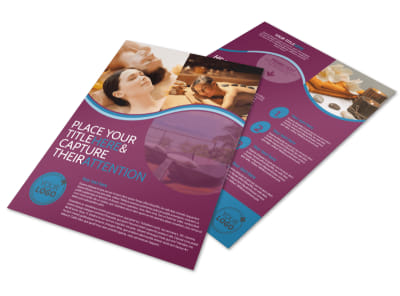 Spa Resort Getaway Flyer Template preview