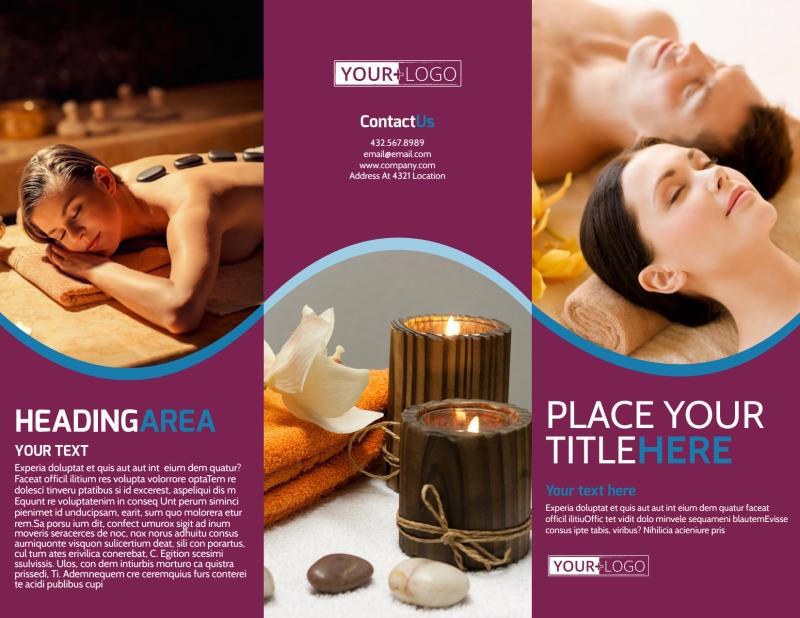 Spa Resort Getaway Brochure Template Preview 2