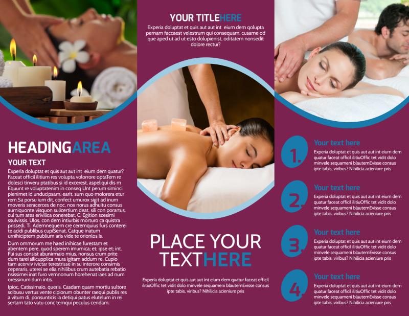 Spa Resort Getaway Brochure Template Preview 3