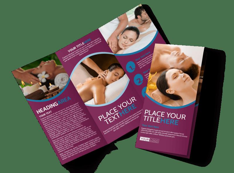 Spa Resort Getaway Brochure Template Preview 1