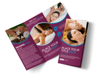 Spa Resort Getaway Tri-Fold Brochure Template preview
