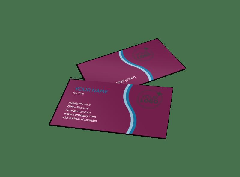 Spa Resort Getaway Business Card Template Preview 1