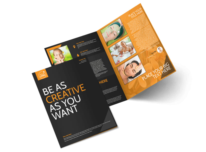 Creative Beauty Spa Bi-Fold Brochure Template 2