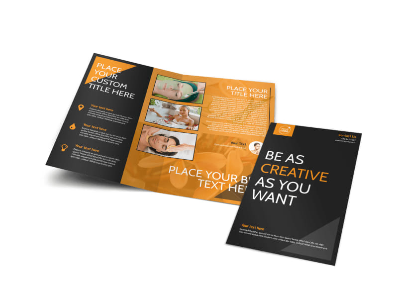 Creative Beauty Spa Bi-Fold Brochure Template
